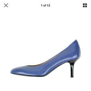 Tod's Slate Blue Leather Pump Shoes 7 US / 37 EU